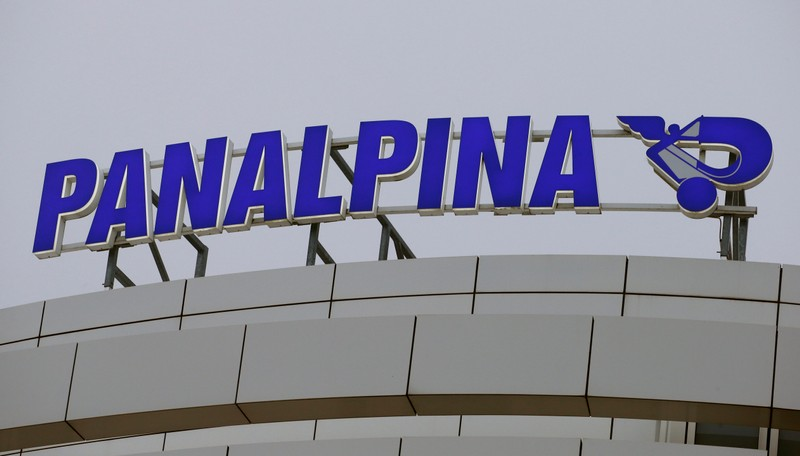 The Logo of Swiss transport and logistics firm Panalpina is seen at an office building in Basel
