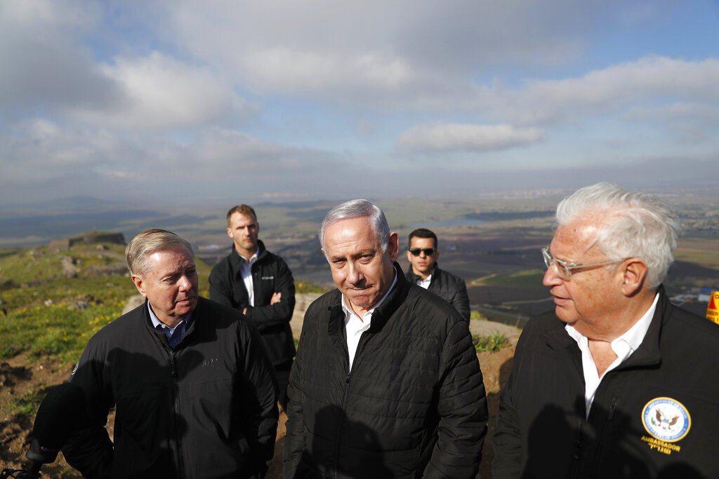 Sen. Graham tours Golan Heights with Israel Prime Minister Netanyahu
