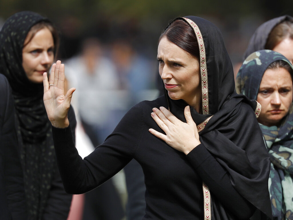 New Zealand PM Ardern Arrives at Memorial Service for Christchurch Victims