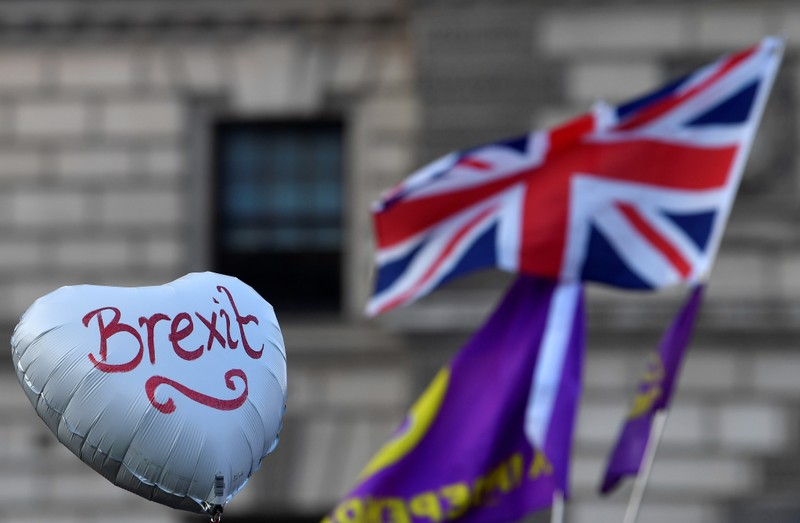 FILE PHOTO:  Pro-Brexit March to Leave demonstration in London