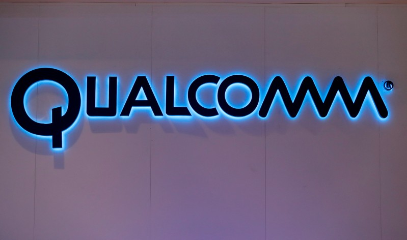 FILE PHOTO: Qualcomm's logo is seen during Mobile World Congress in Barcelona