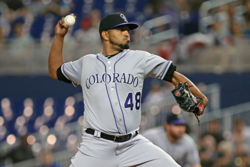 FILE PHOTO: MLB: Colorado Rockies at Miami Marlins