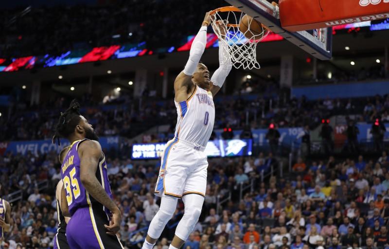 NBA: Los Angeles Lakers at Oklahoma City Thunder