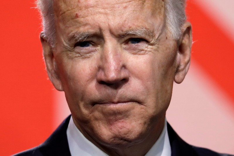 FILE PHOTO: Former Vice President Joe Biden speaks at the  Conference of Mayors winter meeting in Washington