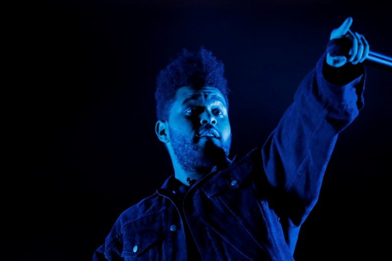 The Weeknd performs at the Global Citizen Festival concert in Central Park in New York City