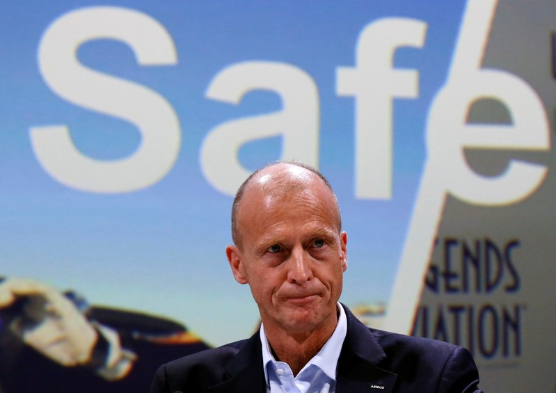 Airbus CEO Tom Enders attends Airbus's annual press conference on Full-Year 2018 results in Blagnac