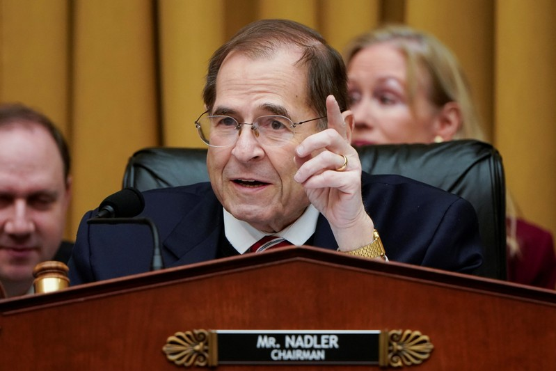 FILE PHOTO - Chairman of the House Judiciary Committee Jerrold Nadler (D-NY) speaks during a mark up hearing on Capitol Hill in Washington