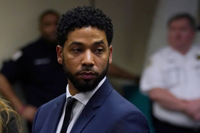 Actor Jussie Smollett makes a court appearance at the Leighton Criminal Court Building in Chicago