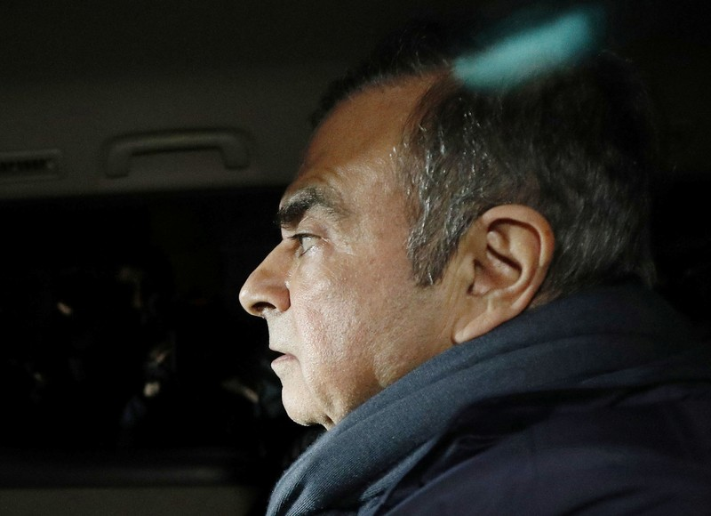Former Nissan Motor Chairman Carlos Ghosn leaves his lawyer's office in Tokyo