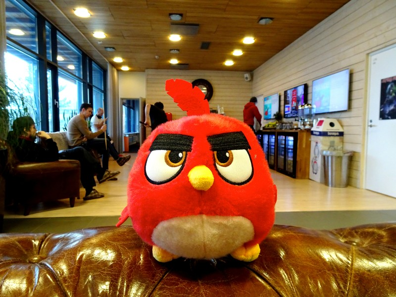 FILE PHOTO: An Angry Birds game character is seen at the Rovio headquarters in Espoo
