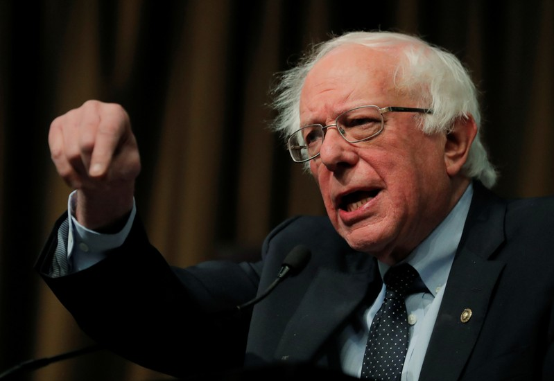 U.S. 2020 Democratic presidential candidate and U.S. Senator Bernie Sanders speaks at the 2019 National Action Network National Convention in New York