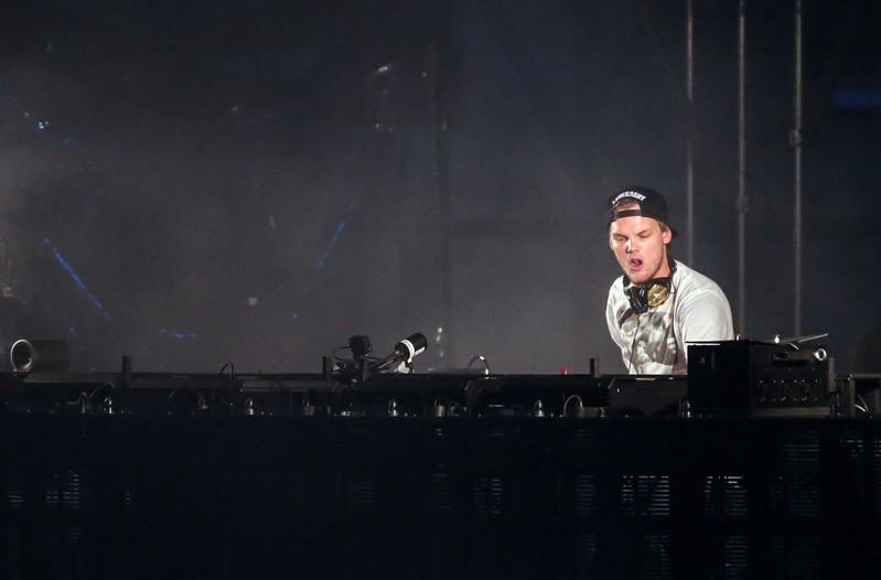 Avicii (Tim Berglin) performs at the Summerburst music festival at Ullevi stadium in Gothenburg