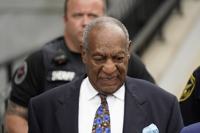 Actor and comedian Bill Cosby leaves the Montgomery County Courthouse in Norristown, Pennsylvania