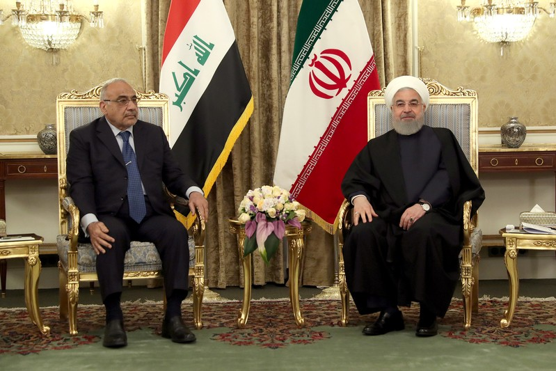 Iranian President Hassan Rouhani meets with Iraq's Prime Minister Adel Abdul Mahdi in Tehran