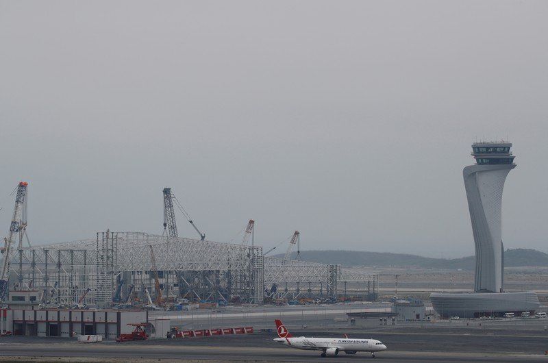A Turkish Airlines plane is seen on the tarmac of the city's new Istanbul Airport in Istanbul