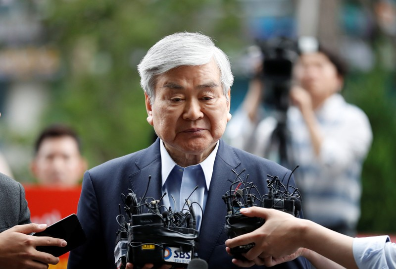 FILE PHOTO: Korean Air Lines Chairman Cho Yang-ho arrives at a prosecutor's office in Seoul