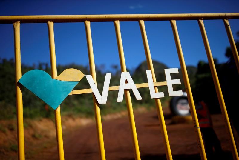FILE PHOTO: Logo of the Brazilian mining company Vale SA is seen in Brumadinho