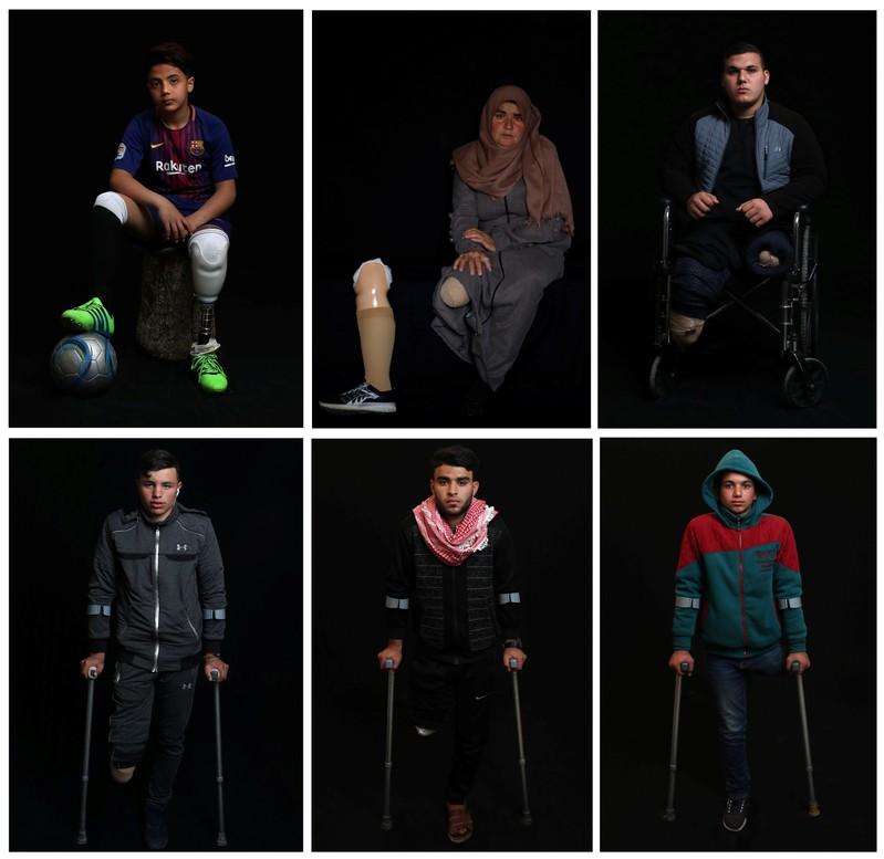 Palestinian boy Abdel-Rahman Nofal, 12, poses for a photo in Gaza
