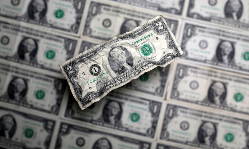 FILE PHOTO: U.S. dollar banknote is seen in this picture illustration