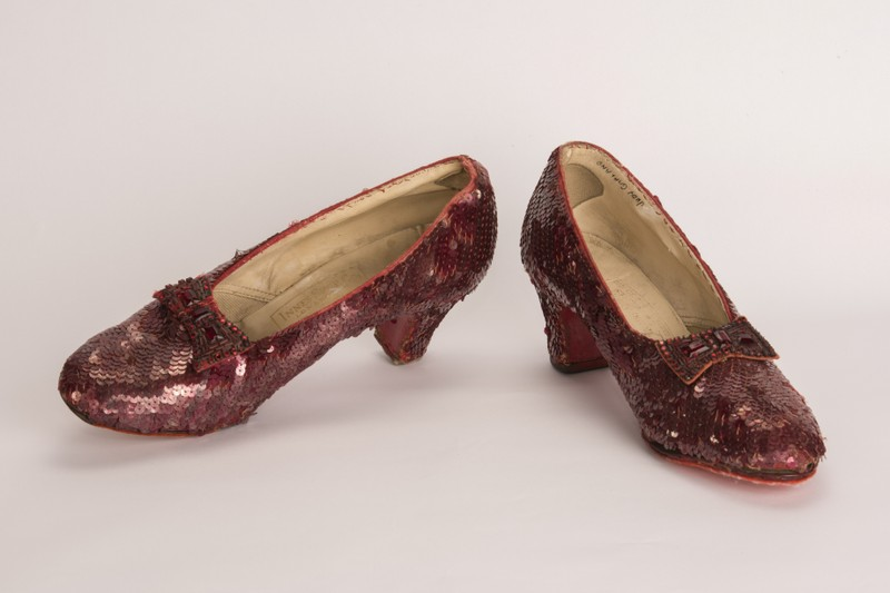 FILE PHOTO: Minneapolis Division of the FBI image of a pair of ruby slippers featured in the classic 1939 film The Wizard of Oz