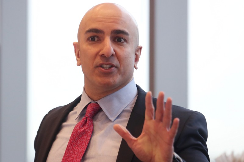 FILE PHOTO: President of the Federal Reserve Bank on Minneapolis Neel Kashkari speaks during an interview in New York