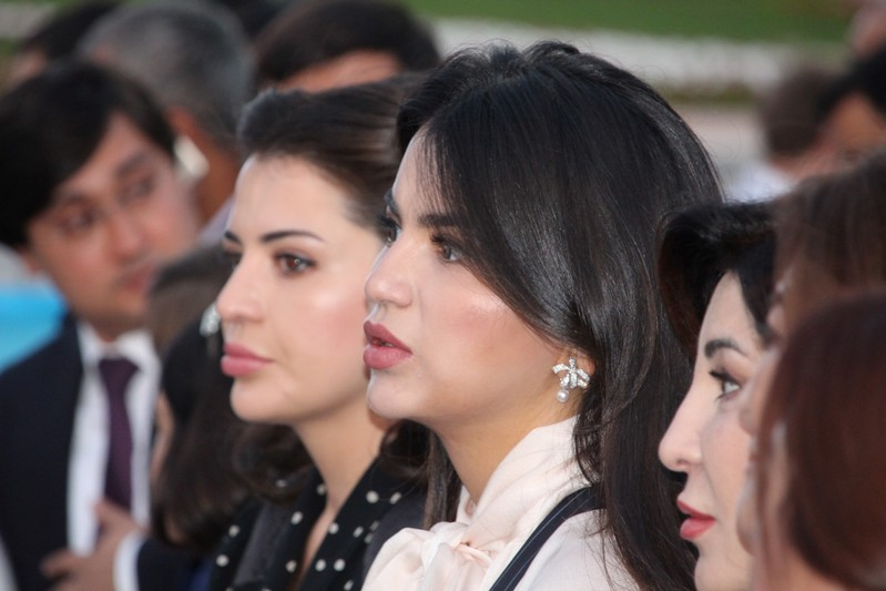 FILE PHOTO: Saida Mirziyoyeva, daughter of Uzbek President Shavkat Mirziyoyev, watches the International Music Festival