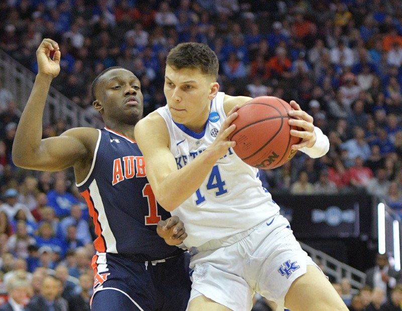 FILE PHOTO: NCAA Basketball: NCAA Tournament-Midwest Regional-Auburn vs Kentucky