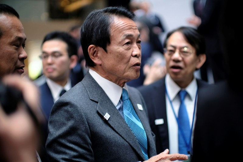 Japanese Finance Minster Taro Aso at the IMF and World Bank Spring Meetings in Washington