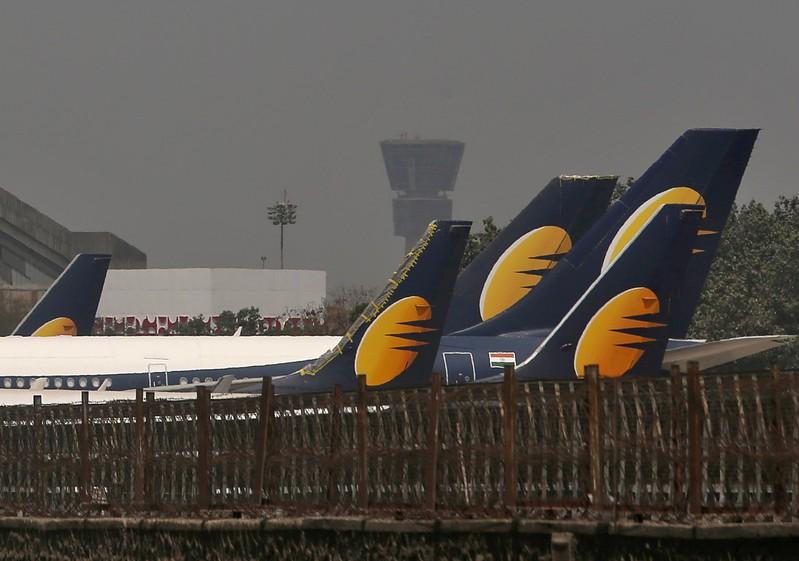 FILE PHOTO: Jet Airways planes parked at Chhatrapati Shivaji Maharaj International Airport in Mumbai