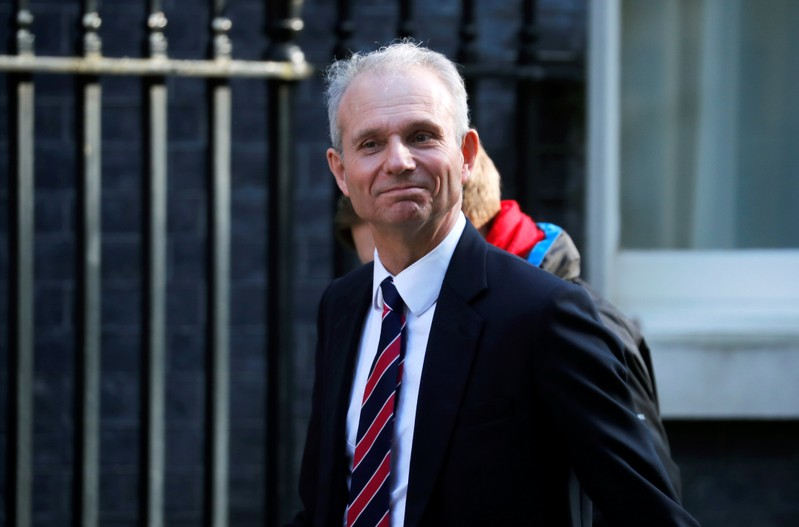 Britain's Minister for the Cabinet Office David Lidington is seen outside Downing Street in London