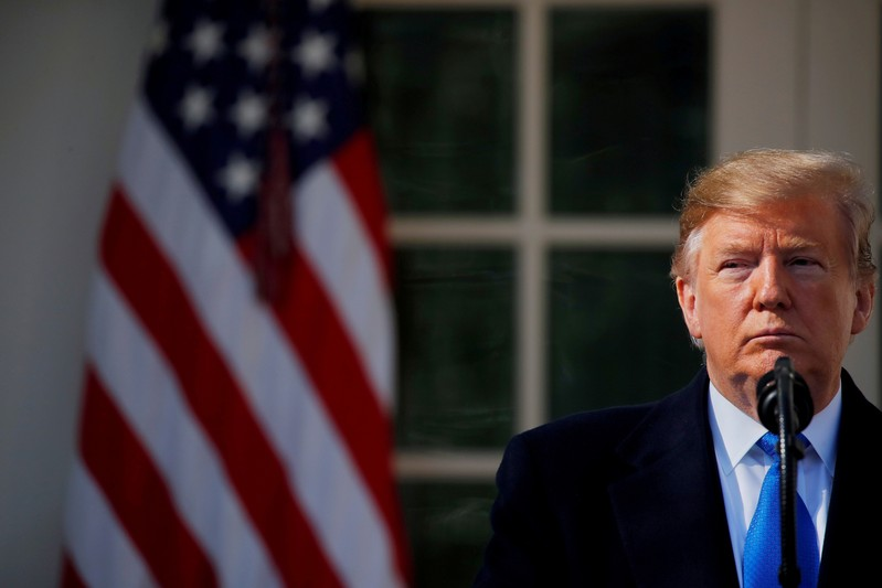 FILE PHOTO: U.S. President Trump declares a national emergency at the southern border during remarks at the White House in Washington