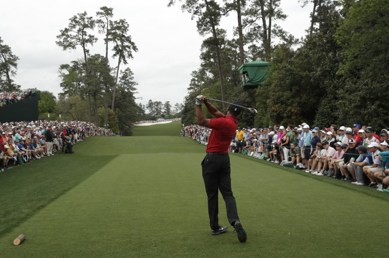 Final round play of the Masters at Augusta National