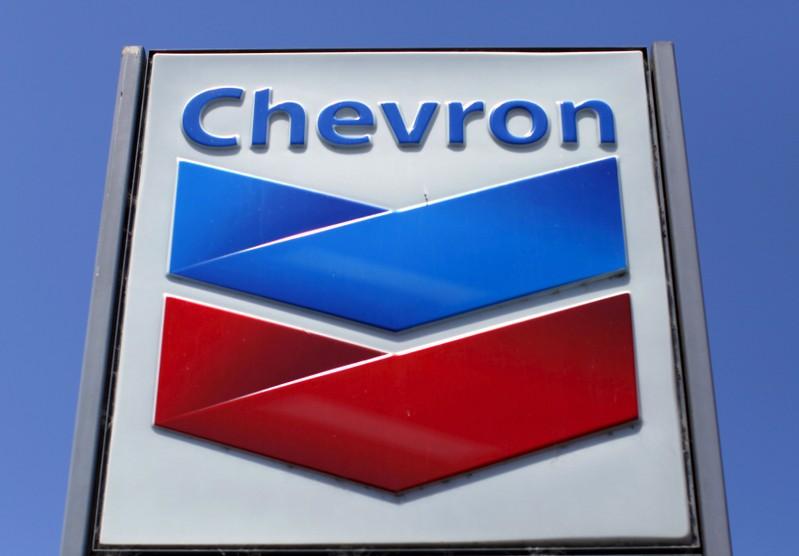 FILE PHOTO: File photo of a Chevron gas station sign in Del Mar, California