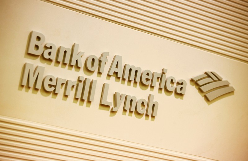 FILE PHOTO: Company logo of the Bank of America and Merrill Lynch is displayed at its office in Hong Kong