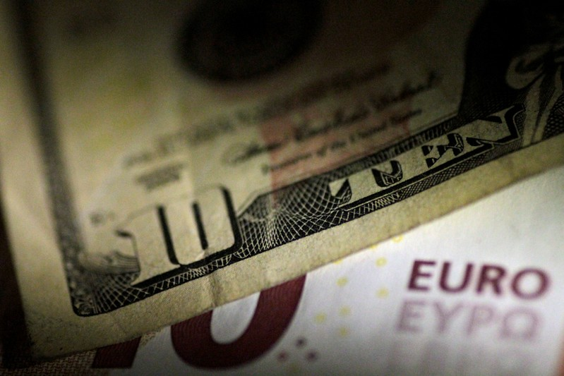 Illustration photo of U.S. Dollar and Euro notes