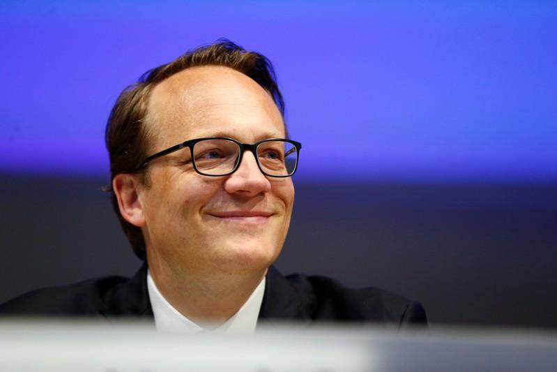 RWE CFO Markus Krebber attends the annual shareholders meeting of German power supplier RWE in Essen