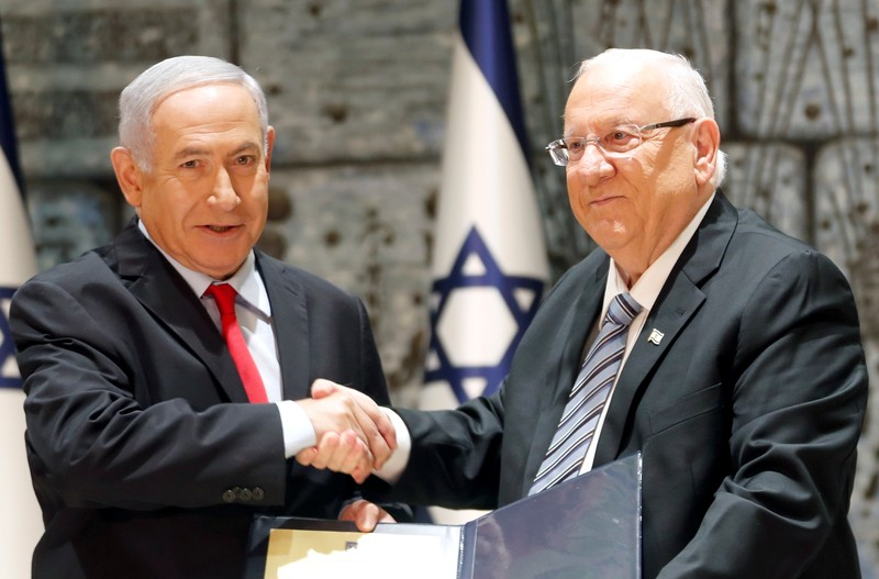 Israel's President Rivlin entrusts Israeli PM Netanyahu with forming the next government in Jerusalem