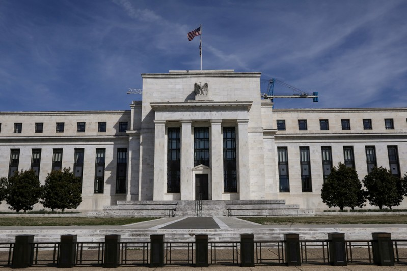 FILE PHOTO: The Federal Reserve Board building on Constitution Avenue in Washington