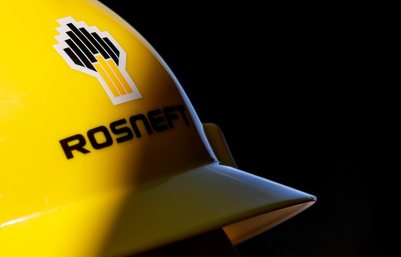 A view shows a helmet with the logo of Rosneft company in Vung Tau