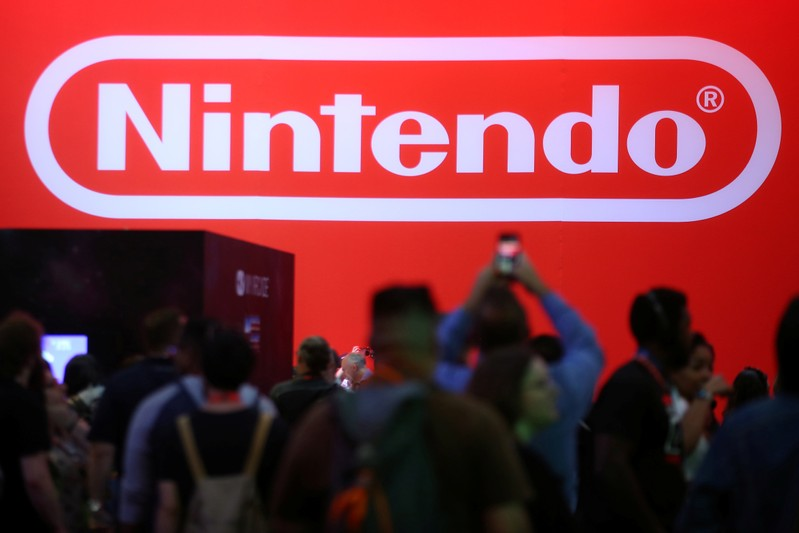 The Nintendo booth is shown at the E3 2017 Electronic Entertainment Expo in Los Angeles