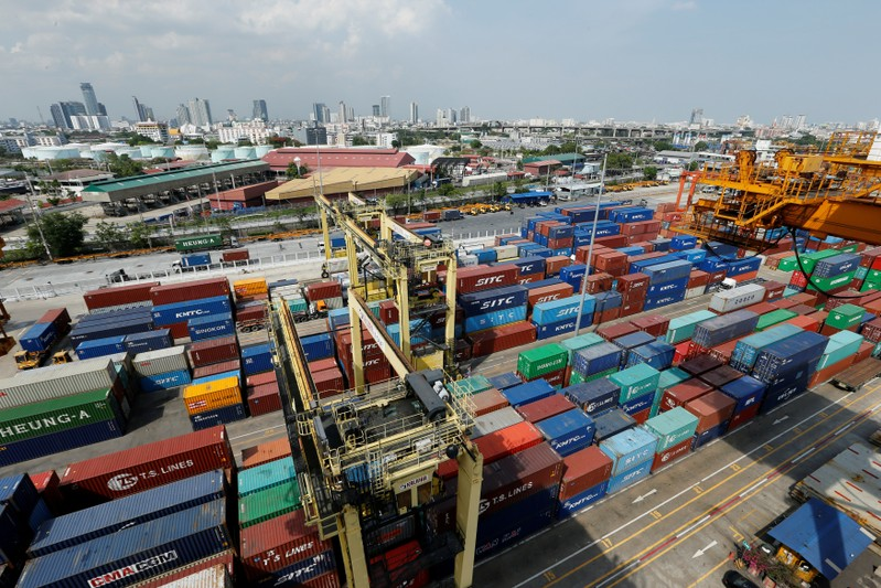 FILE PHOTO: A view of the port of Bangkok in Thailand