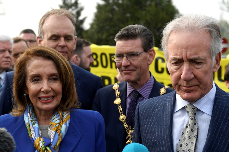 FILE PHOTO: U.S. House Speaker Pelosi visits Ireland