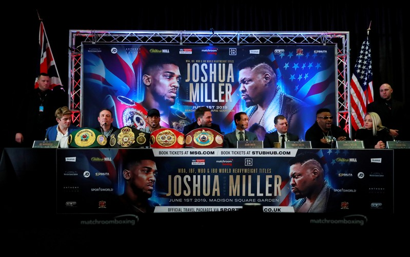 FILE PHOTO: Anthony Joshua & Jarrell Miller Press Conference