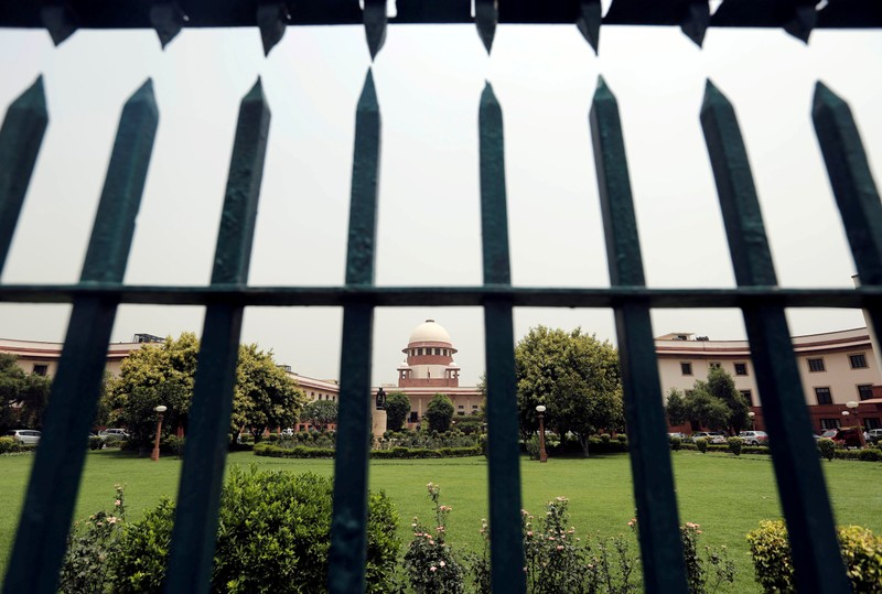 FILE PHOTO: India's Supreme Court is pictured through a gate in New Delhi