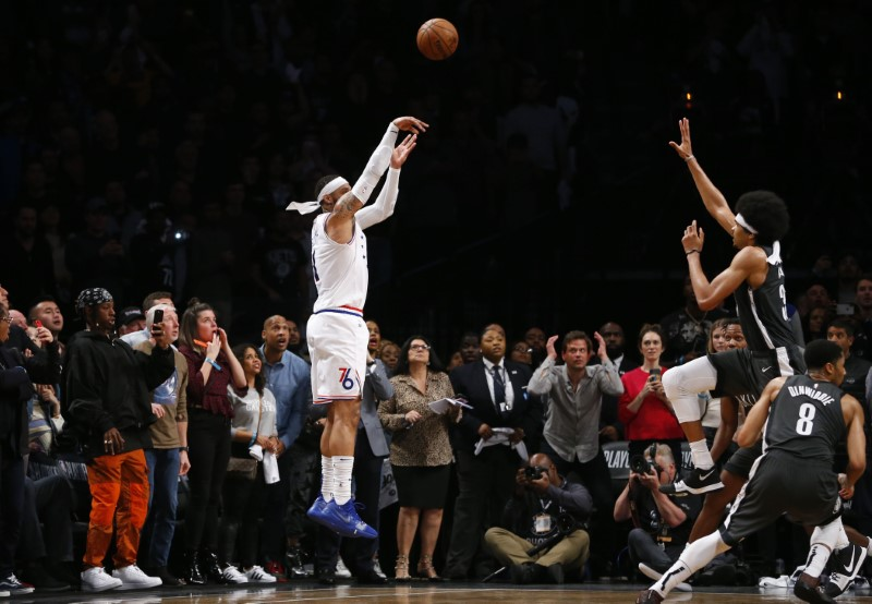 NBA: Playoffs-Philadelphia 76ers at Brooklyn Nets