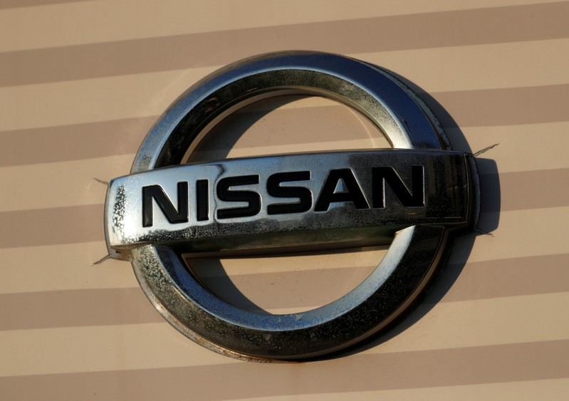 FILE PHOTO: The Nissan logo is seen at Nissan Motor's global headquarters building in Yokohama