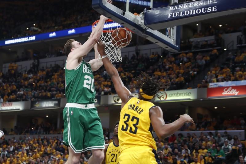 NBA: Playoffs-Boston Celtics at Indiana Pacers