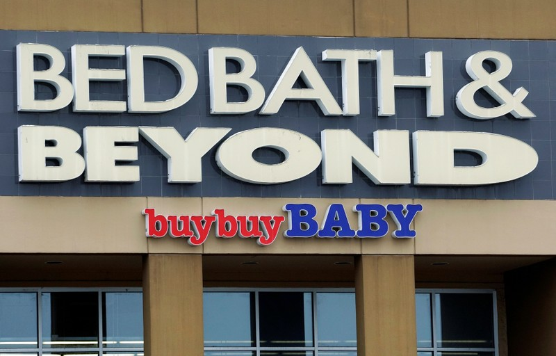 The sign outside the Bed Bath & Beyond store is seen in Westminster