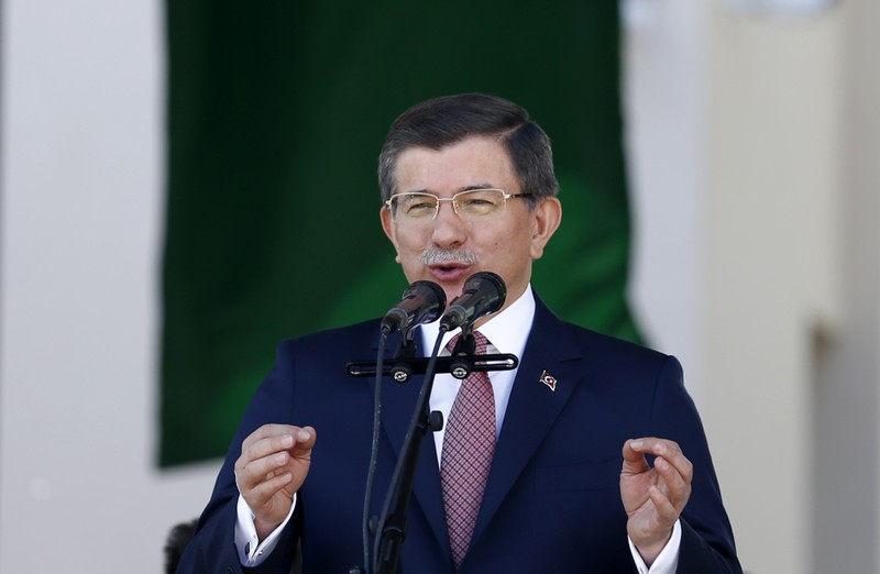 Turkish Prime Minister Davutoglu speaks during an opening ceremony in Banja Luka