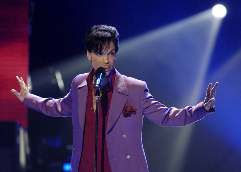 File photo of singer Prince performing during